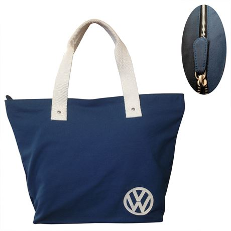 957c8f1925b Winter Snow Bobble Hat in Brown Orange and White by Urban Beach. £8.99  VW  BAG - PREMIUM CANVAS TOTE in BLUE Officially Licenced by Volkswagen